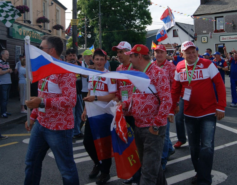 Российская сборная на торжественном шествии