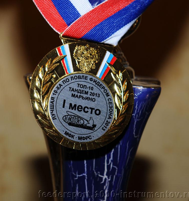 Медаль победителей соревнований ТОП-10 тандем 2013