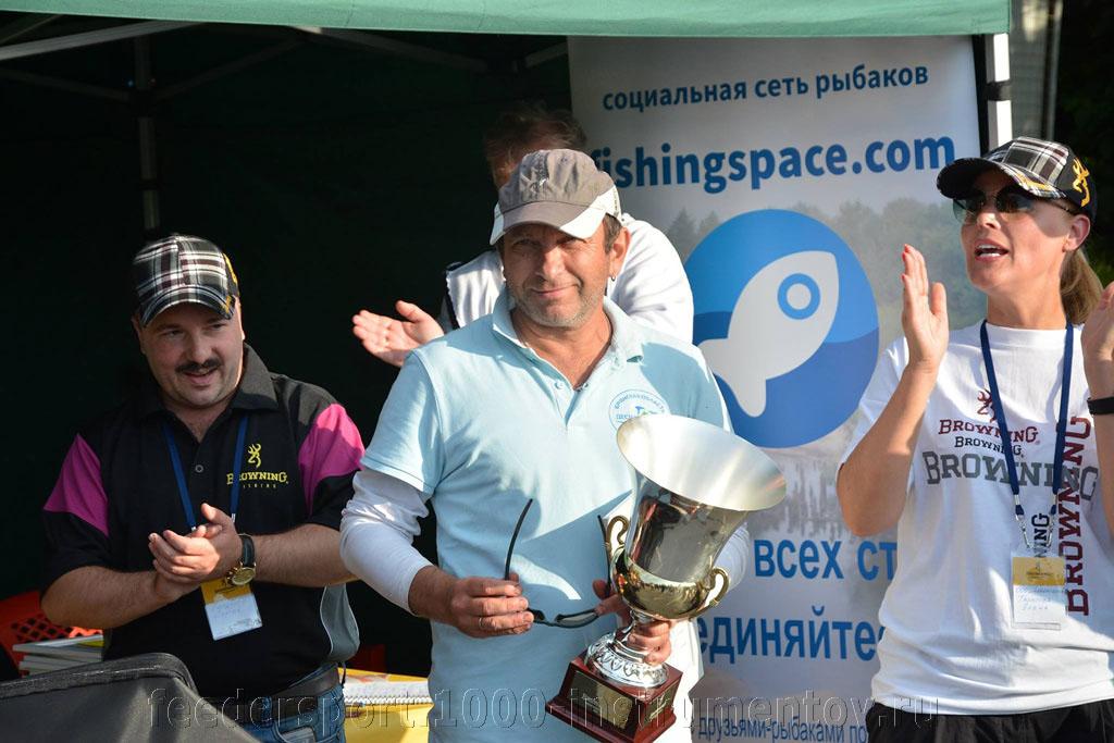 Михаил Петров, победитель Кубка Браунинг по фидеру 2015, Россия, Москва