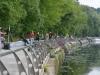 Набережная Москва-реки, зона соревнований на Кубке Браунинг по фидеру 2015, Россия, Москва