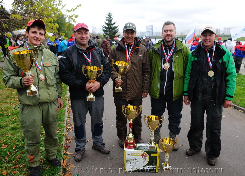 Команда Вормфарм Дам Фили, победитель соревнований Чемпионат России по фидеру 2013