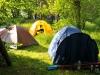 Палаточный лагерь спортсменов