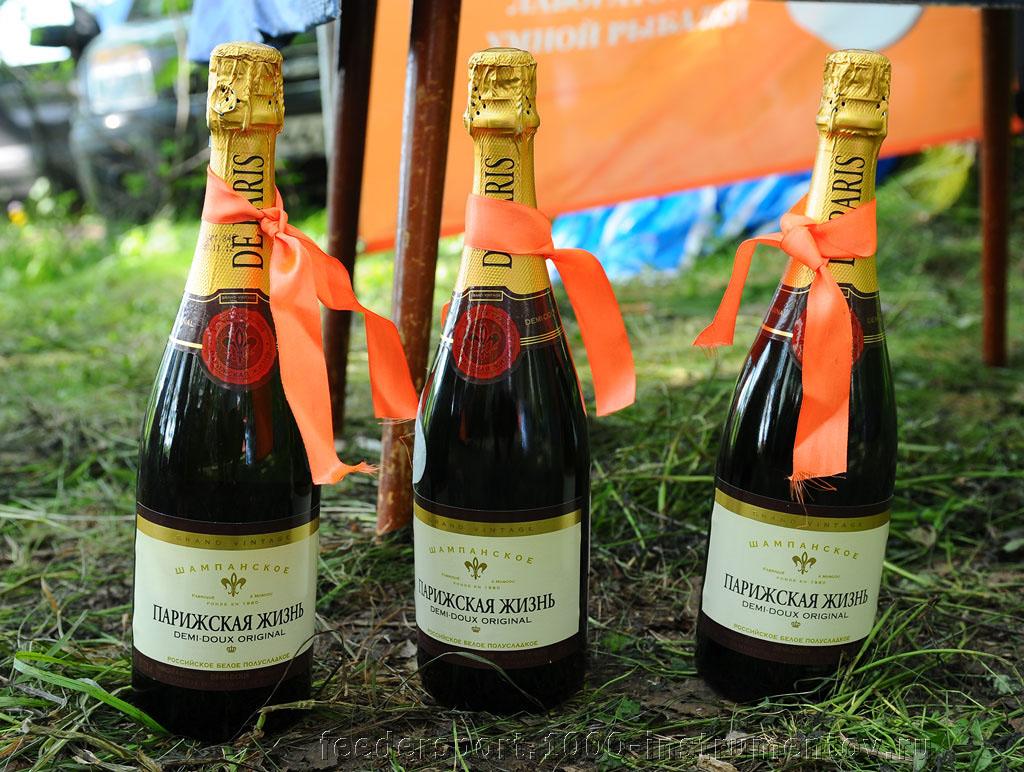 Шампанское для победителей в личном зачете на Кубке Алгоритм 2013