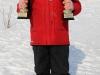 Медаль и кубок за первое место по итогам соревнований Москворецкий Экстрим 2011 на соревнованиях Кубок памяти Чулкова 2013