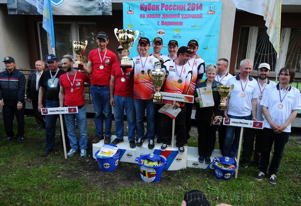 Победители и призеры Кубка России по фидеру 2014