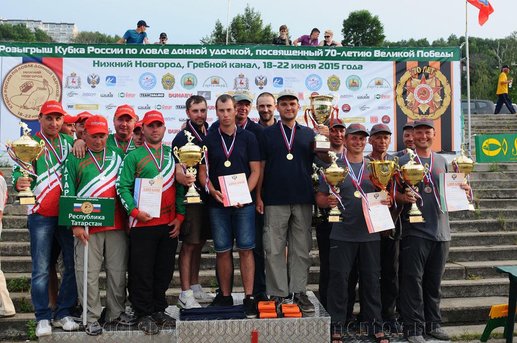 Команда ТипТоп 1-ое место на Кубке России по фидеру 2015