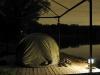 Палатка на берегу пруда