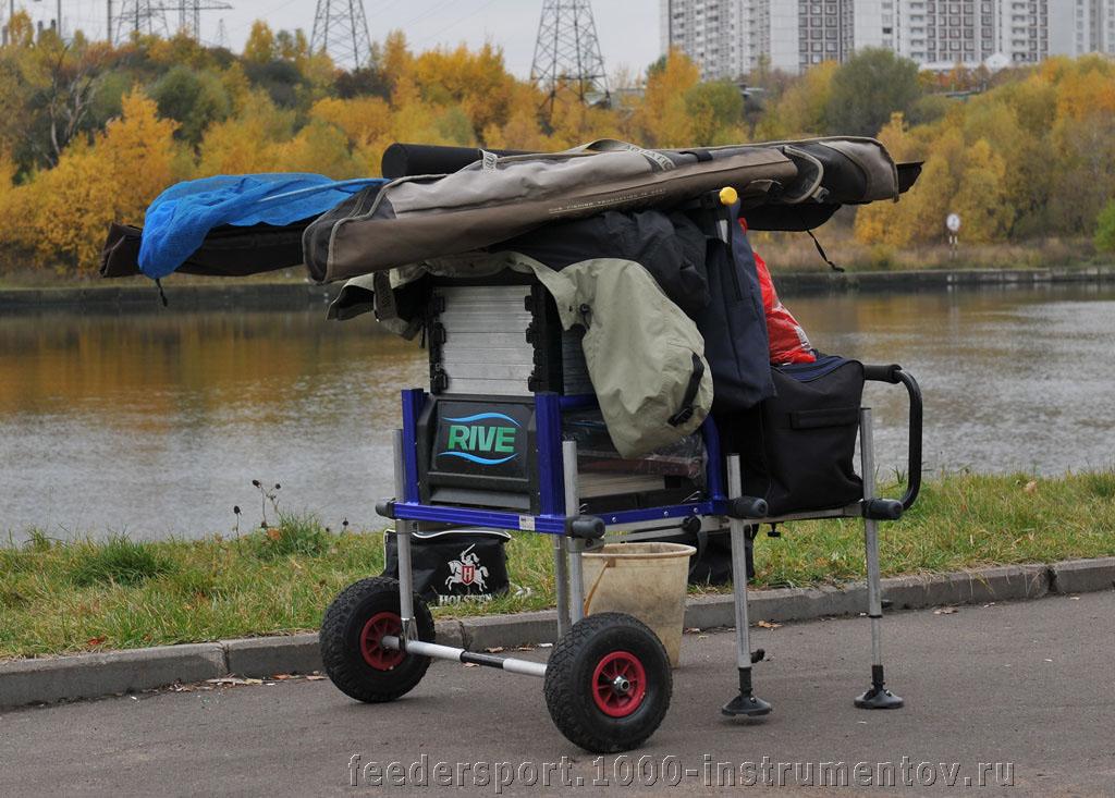 Рыболовный ящик с самодельной транспортной системой
