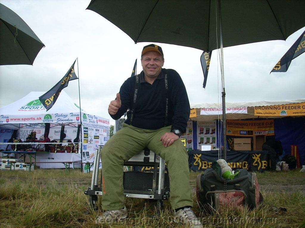 Сергей Орлов на соревнованиях II BROWNING FEEDER CUP 2013 в Словакии, канал Madunice