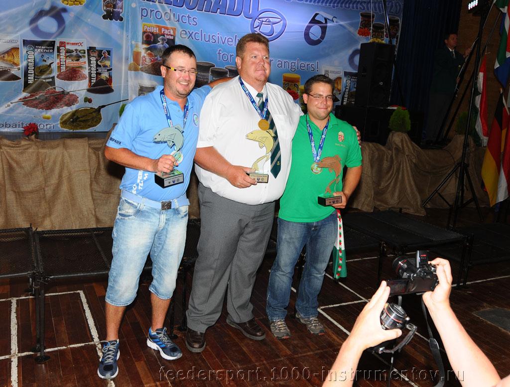 Победитель и призеры в личном зачете на ЧМ в ЮАР 2013