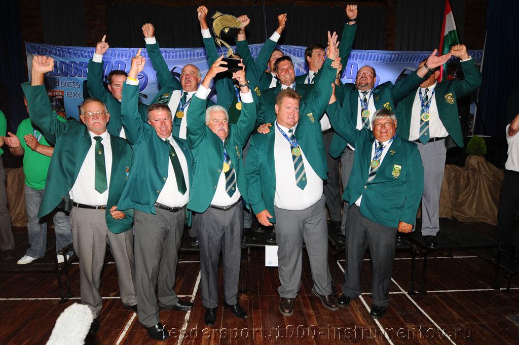 Сборная ЮАР - первое командное место на ЧМ в ЮАР 2013
