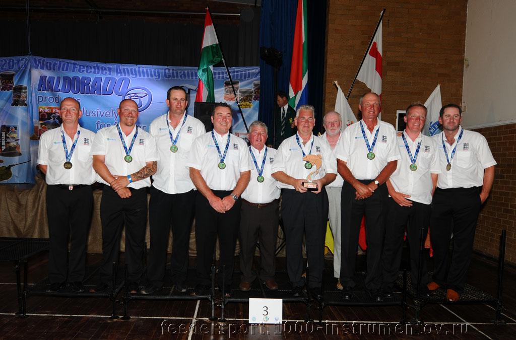 Сборная Англии - третье командное место на ЧМ в ЮАР 2013