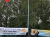 Российский флаг поднимает команда-призер Чемпионата Москвы 2008