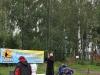 Спорстсмен из Украины поднимает флаг на Чемпионате Москвы 2009