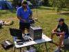 Сергей готовит аппаратуру на соревнованиях Чемпионат Москвы 4-5 августа 2012