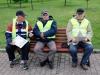 Судейская бригада перед построением на награждение на соревнованиях Кубок Москвы 2013, тандем
