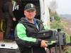 Михаил разгружает рыболовное оборудование