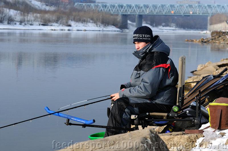 Александр в ожидании поклевки на тренировке 17.02.2013
