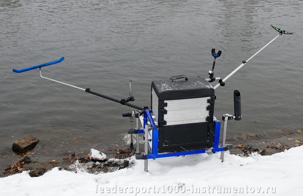 Рыболовный ящик, оснащенный для ловли рыбы на фидер