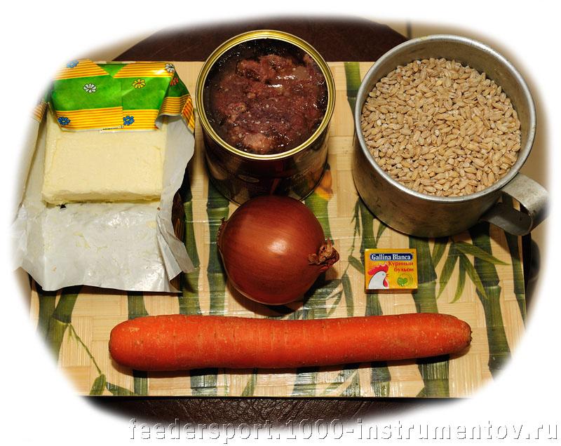 Продукты для приготовления солдатской каши из топора